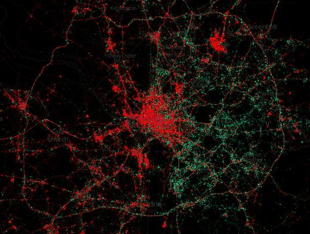 La carte des iPhone et Android: repérez les quartiers riches | Slate.fr